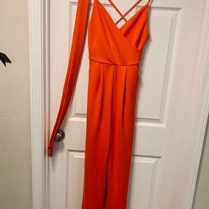 Beautiful bright orange jumpsuit